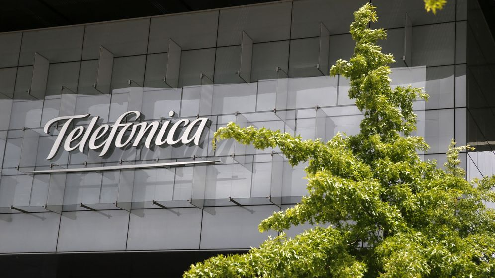 Foto: achada de la sede corporativa de Telefónica. (EFE)