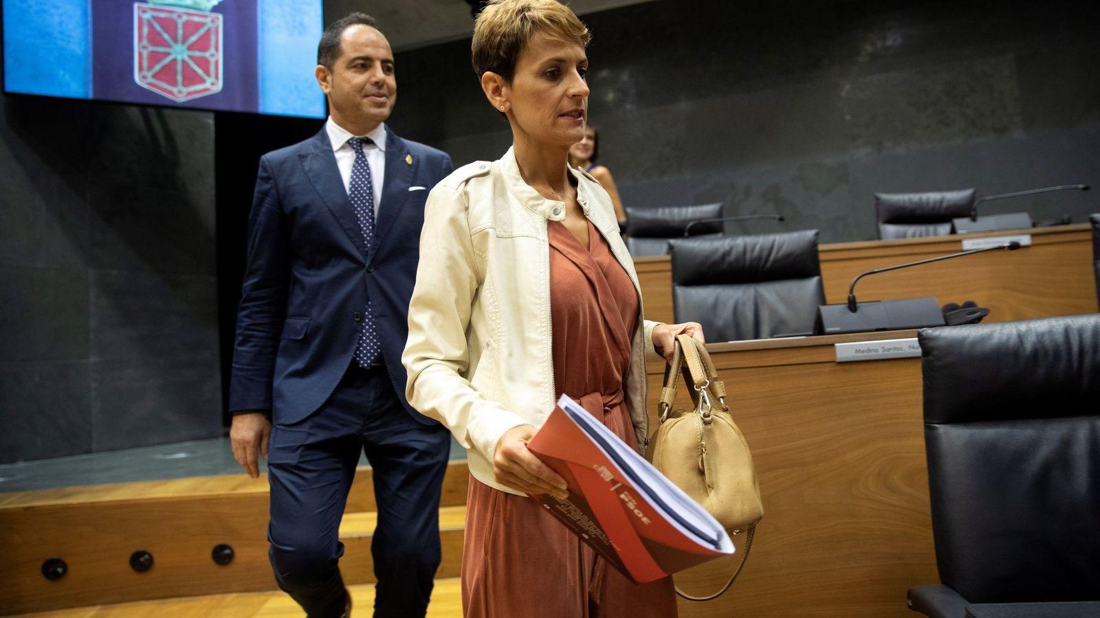 Chivite y Alzórriz, en el Parlamento de Navarra. (EFE)