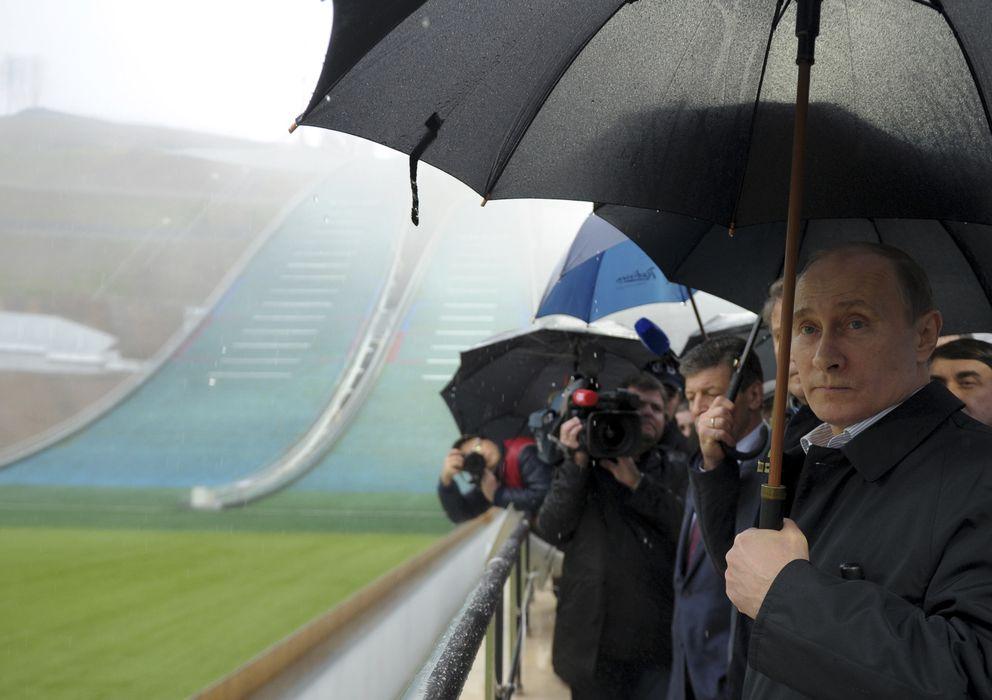 Foto: Putin supervisando las instalaciones de los Juegos Olímpicos (Reuters).