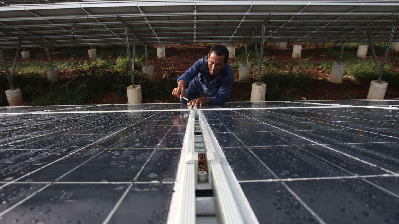 Instalación fotovoltaica comunitaria. (EFE)
