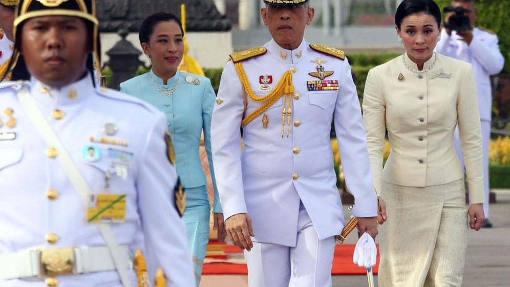 Foto: El rey de Tailandia. Rama X, y la reina Suthila en una imagen de archivo. (EFE)