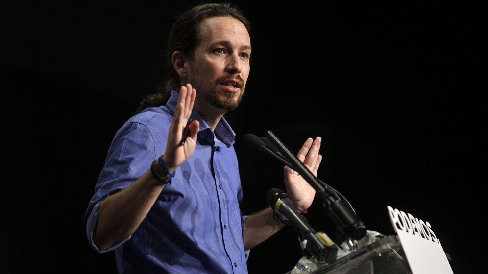 Foto: El líder de Podemos, Pablo Iglesias, durante la valoración de los resultados electorales este lunes. (Reuters)
