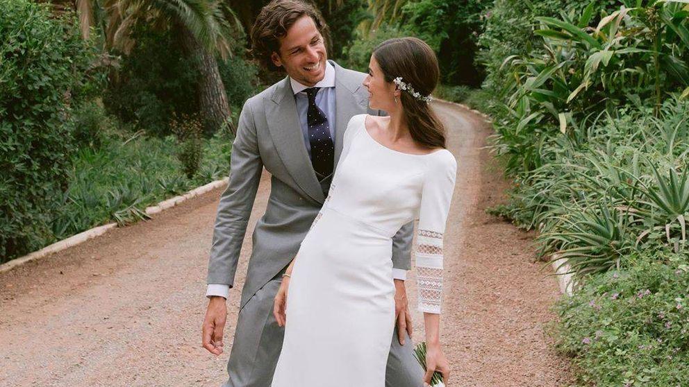 Los dos vestidos de novia de Sandra Gago y el chaqué a medida de Feliciano