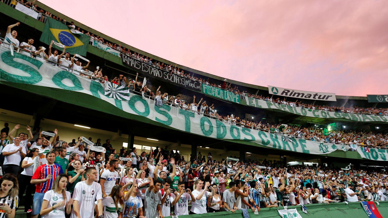 Foto: Homenaje al Chapecoense el pasado 7 de diciembre. (Reuters)