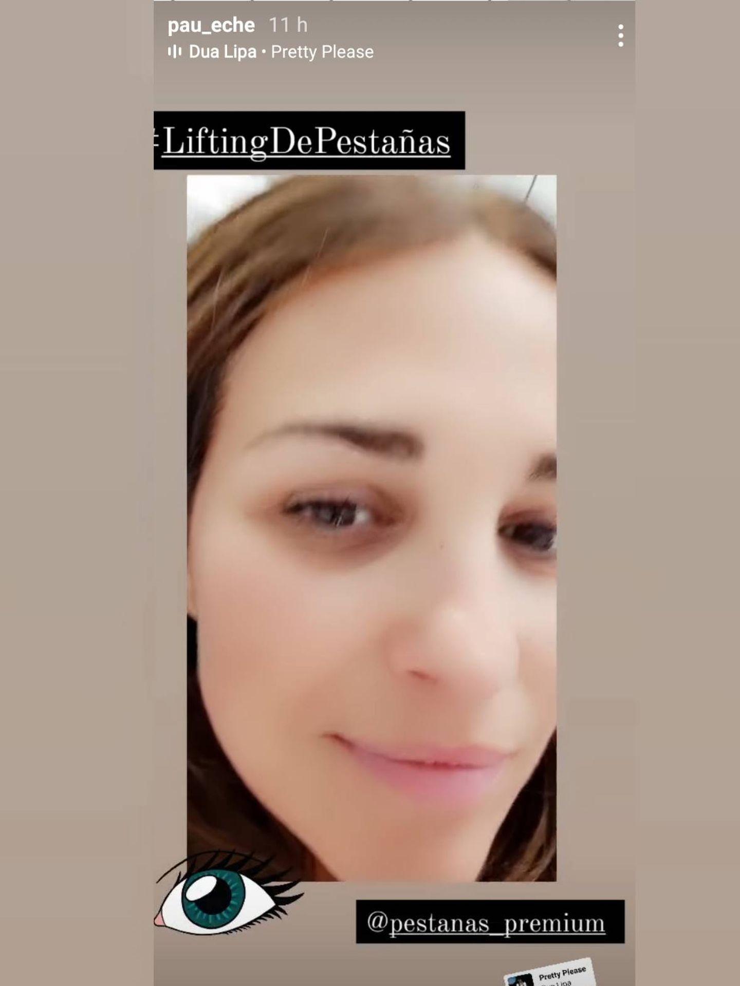 Paula Echevarría muestra el resultado de su lifting de pestañas. (Instagram @pau_eche)