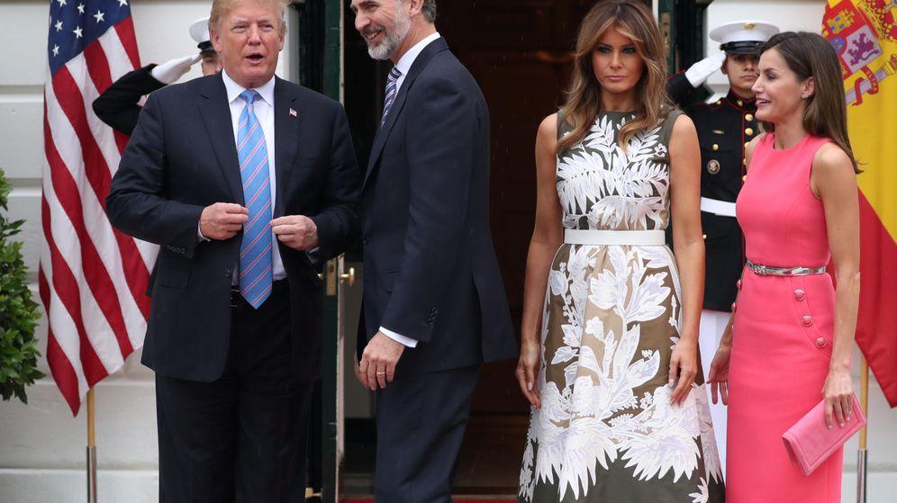 Foto: Todas las imágenes del encuentro de Felipe y Letizia con los Trump