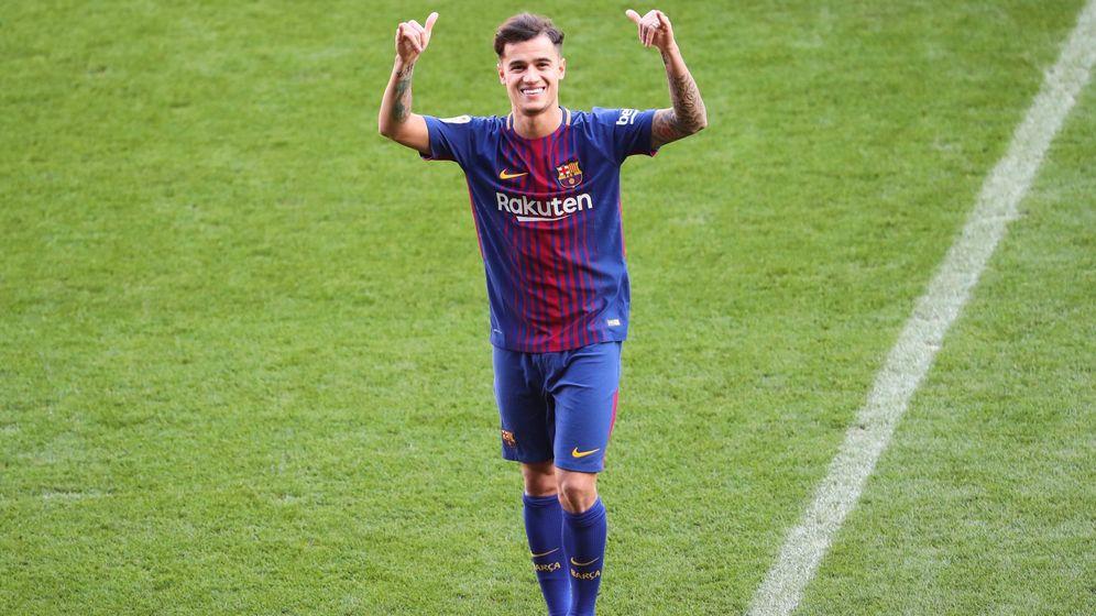 Foto: Este era mi sueño: la presentación de Coutinho con el Barcelona en imágenes