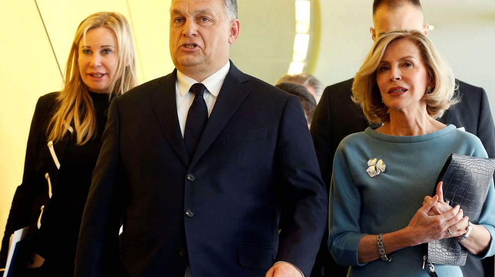Foto: El primer ministro húngaro Víktor Orbán llega a la asamblea del PPE en Bruselas, este miércoles. (Reuters)