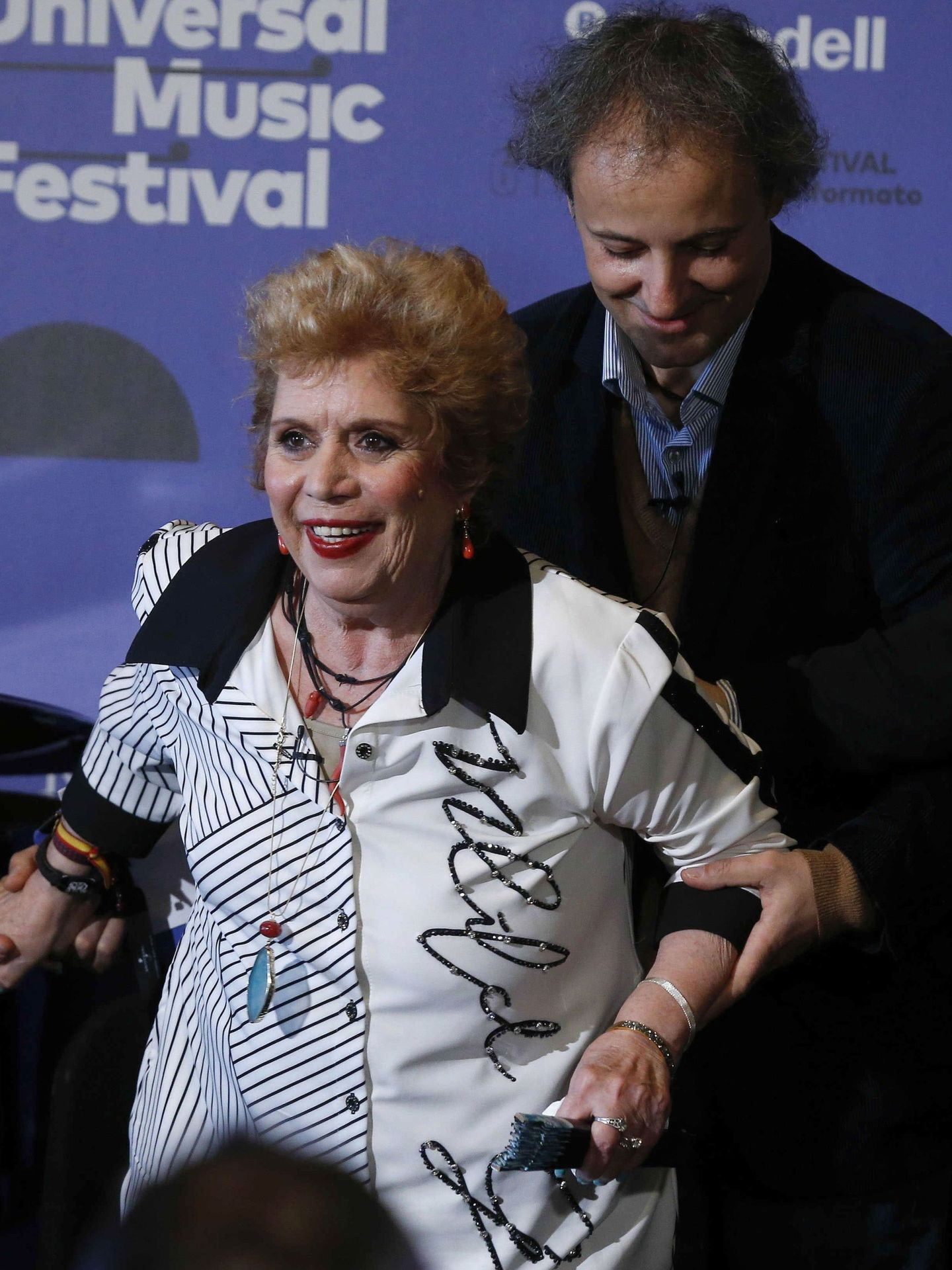 María Jiménez, en la presentación del Universal Music Festival, organizado por la discográfica de la que es presidente Narcís Rebollo. (EFE)