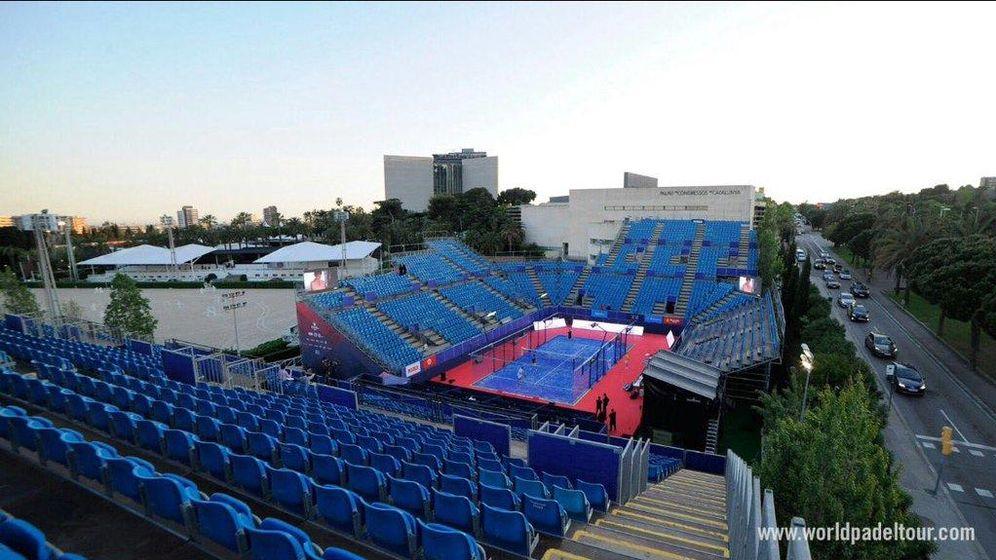 Foto: Imagen de la pista construida en el Real Club de Polo de Barcelona para el torneo de esta semana (Foto: World Padel Tour)