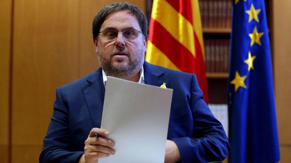 Foto: El vicepresidente cesado de la Generalitat, Oriol Junqueras, el pasado 31 de octubre. (EFE)