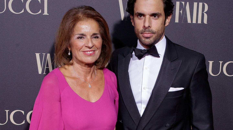 Ana Botella, con su hijo Alonso. (Getty)