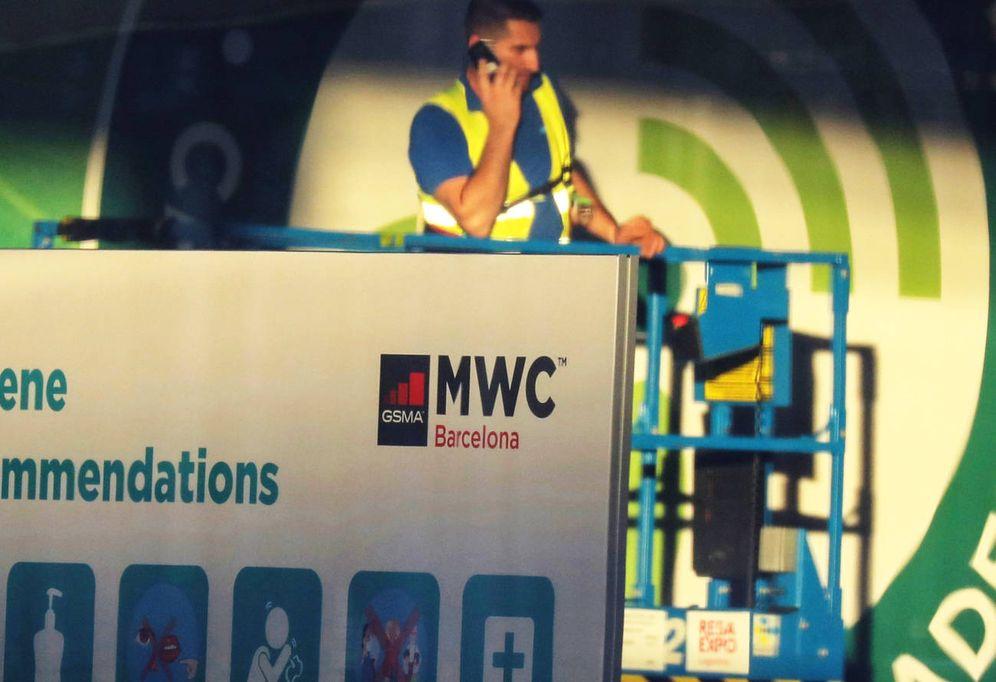 Foto: Preparación del Mobile World Congress 2020 en Barcelona. (Foto: Reuters)