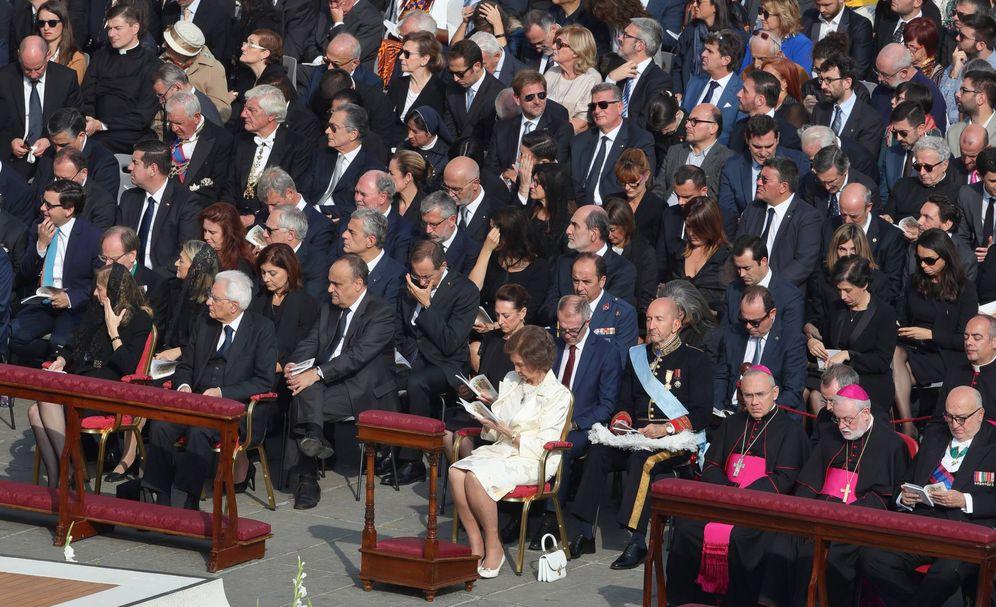 Foto: La reina Sofía en el Vaticano. (EFE)