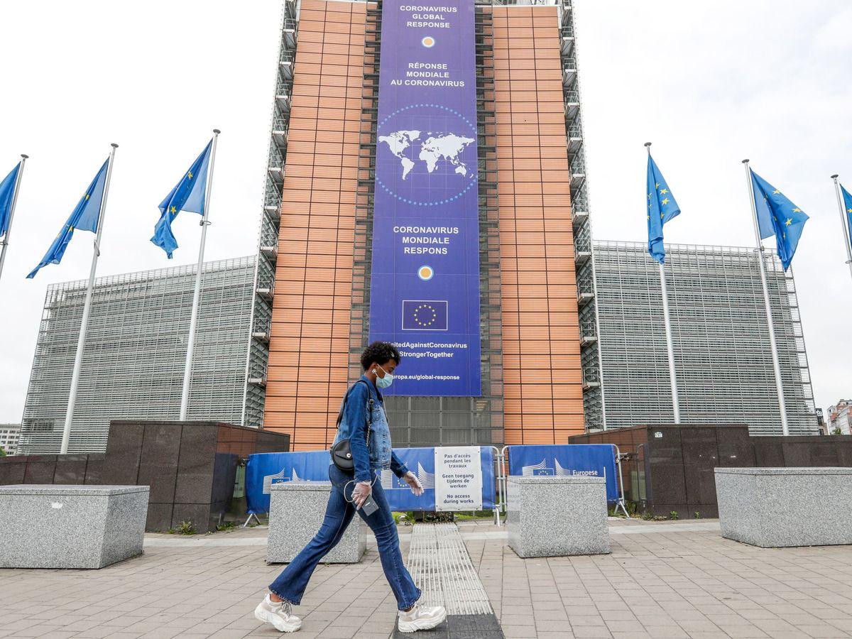 Foto: Sede de la Comisión Europea en Bruselas durante la pandemia del coronavirus. (EFE)