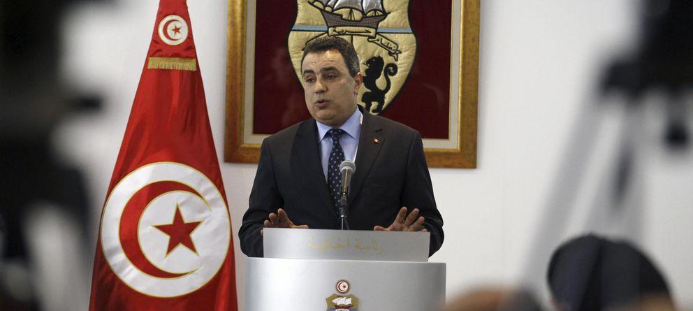 Foto: El primer ministro de Túnez, Mehdi Jomaa, durante una rueda de prensa tras regresar de una visita a EEUU. (Reuters)