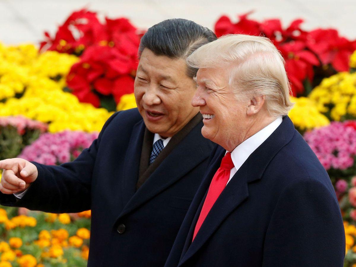 Foto: El presidente de China, Xi Jinping, junto al de EEUU, Donald Trump. (Reuters)