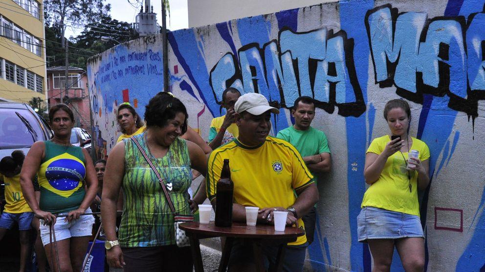 La favela Santa Marta celebra su cambio de cara con el Mundial