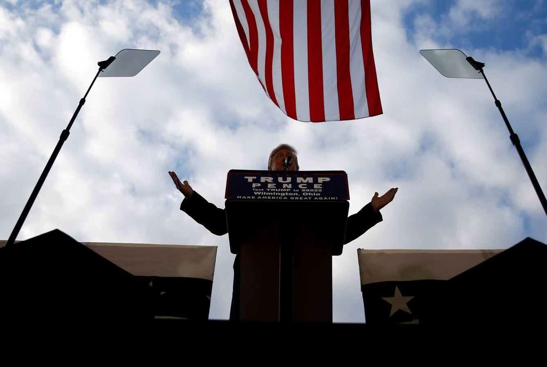 Foto: El candidato republicano, Donald Trump, durante un mitin de campaña en Wilmington, Ohio. (Reuters)