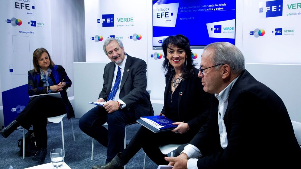 Foto: Foro de EFEVerde sobre la economía cicular. (EFE)