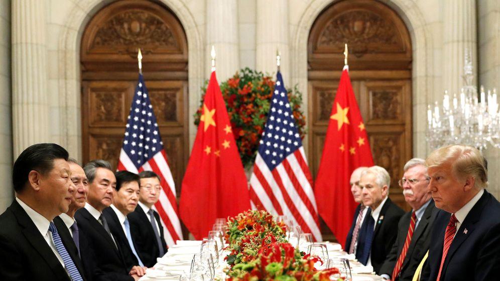 Foto: Cena entre el comité chino y el estadounidense en la cumbre del G-20. (Reuters)