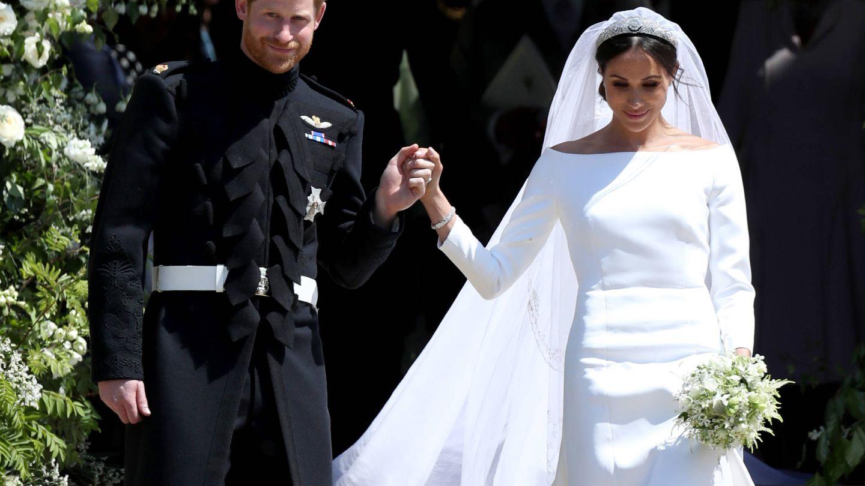 El príncipe Harry y Meghan Markle, el día de su boda. (Getty)