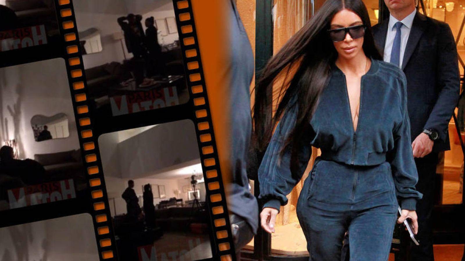 Foto: Kim Kardashian junto a imágenes del robo que sufrió en París. (Fotomontaje: Vanitatis)