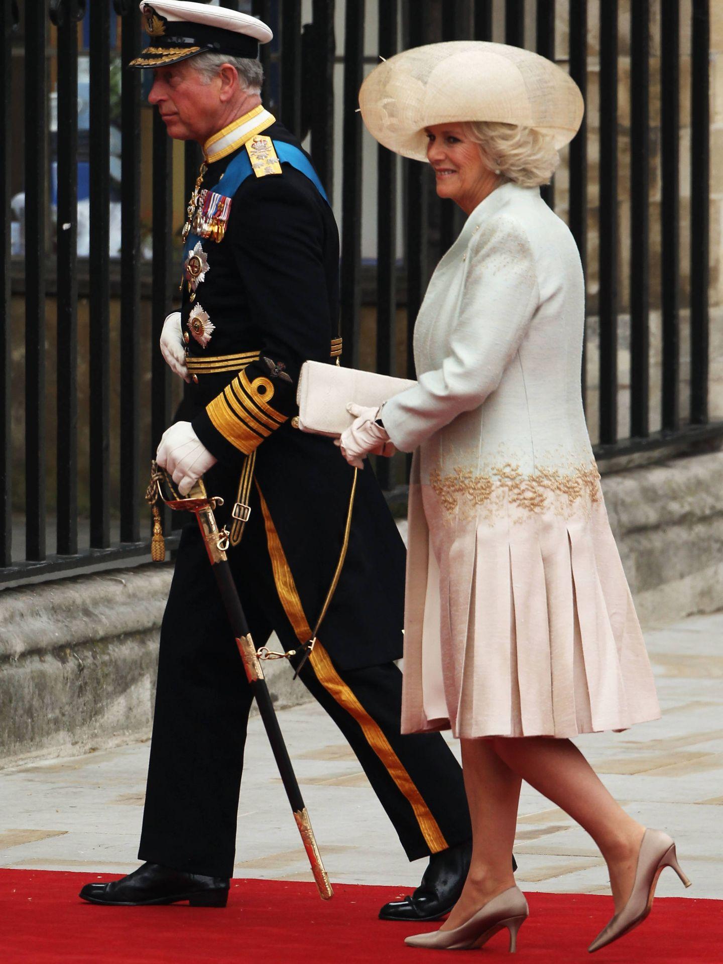 Carlos y Camilla, en la boda de los duques de Cambridge. (Getty)