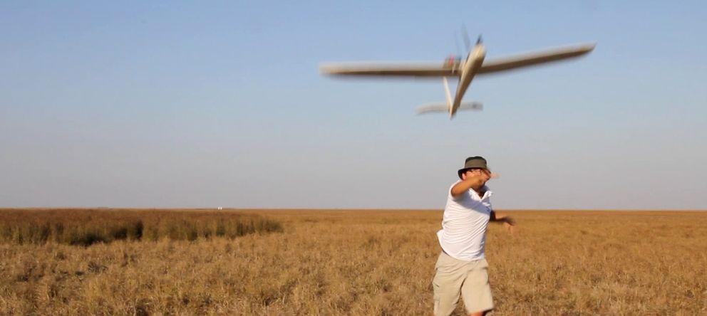 Foto: Drone en Doñana (Foto: Aeromab)