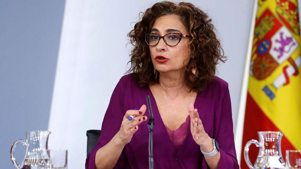 Foto: María Jesús Montero en la rueda de prensa tras consejo de ministros
