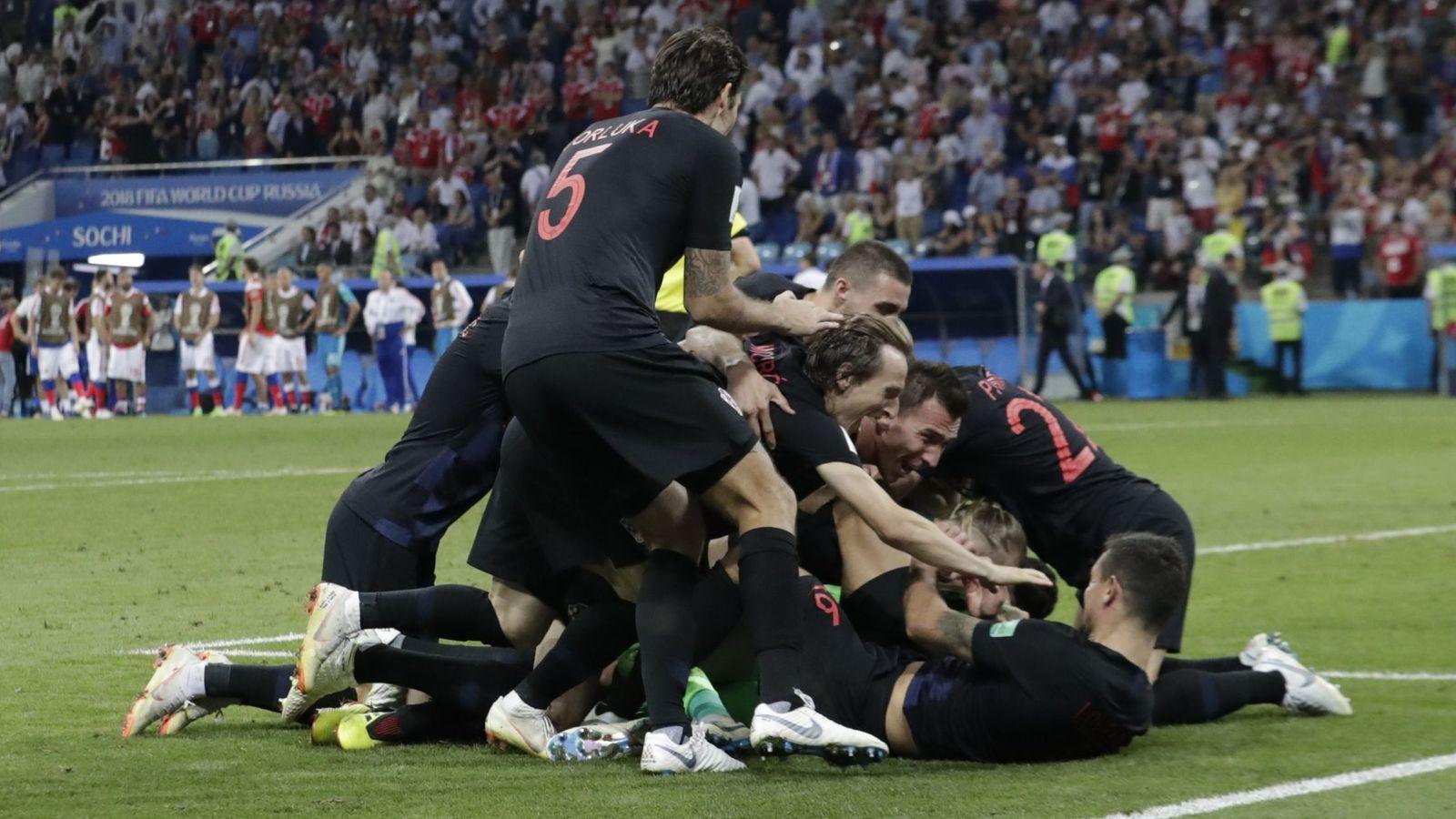 Foto: Así celebró Croacia su clasificación para las semifinales del Mundial. (Reuters)