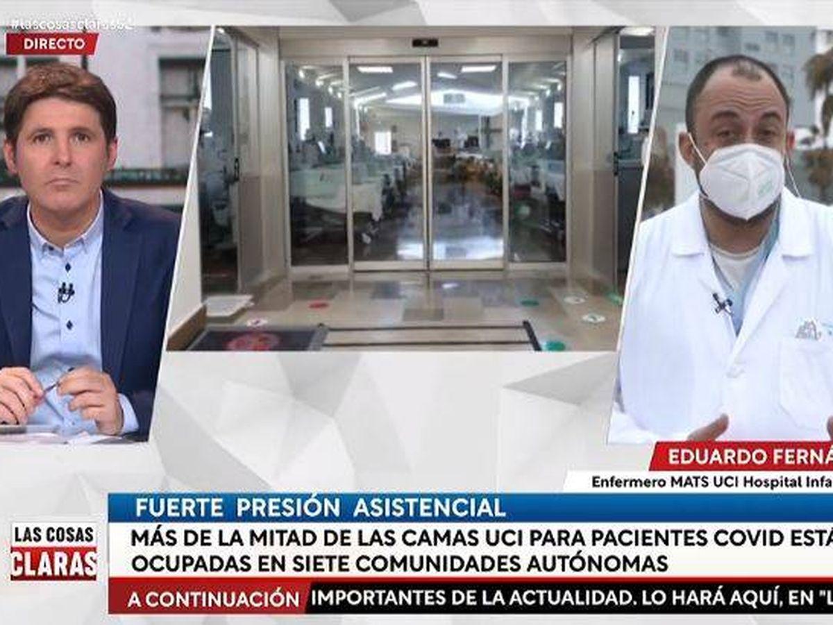 Foto: Jesús Cintora, en 'Las cosas claras'. (RTVE)
