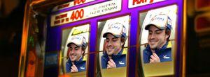 Fernando Alonso in living Las Vegas