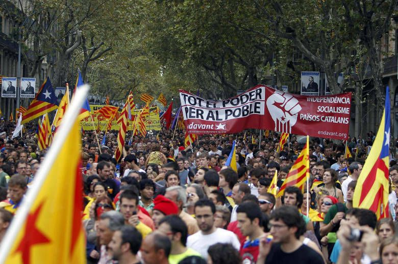 Manifestación diada