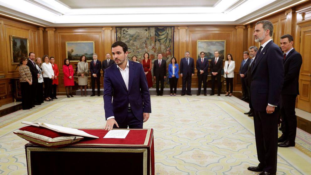 Así han prometido su cargo Pablo Iglesias, Alberto Garzón y el resto de ministros de Podemos