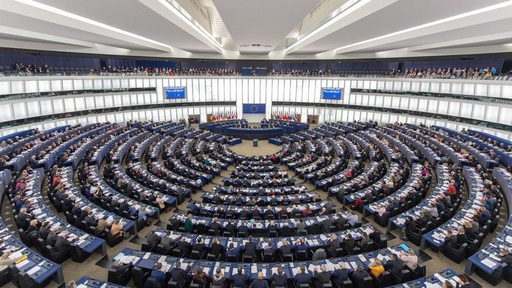 Foto: Sesión en el Parlamento Europeo de Estrasburgo.
