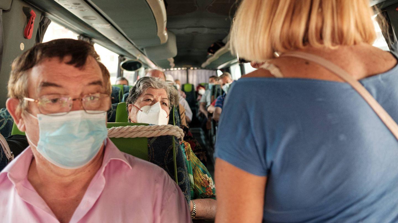 En el autobús de vuelta a Fuenlabrada, Madrid. (S.B.)