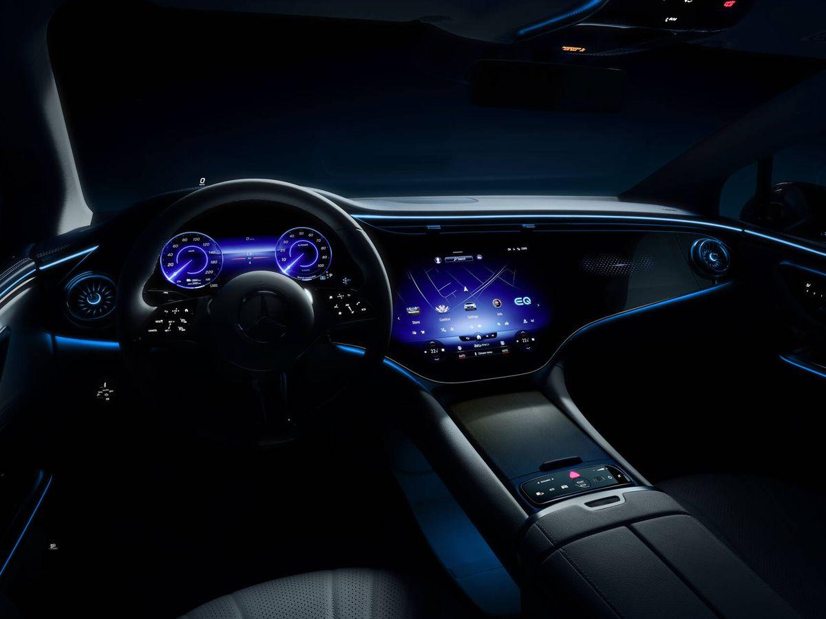Foto: Así es el futurista interior del Mercedes-Benz EQE, la berlina de representación eléctrica que conoceremos en septiembre.
