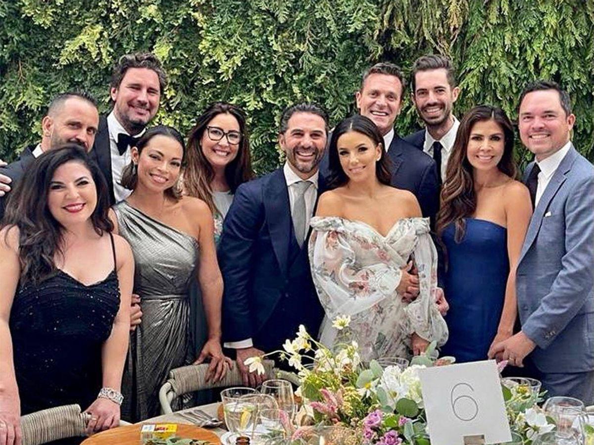 Foto: Eva Longoria y Pepe Bastón, en la boda de Natalia Bastón. (Instagram @bonnieboehmer)