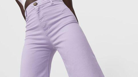 Larga vida al lila con este pantalón vaquero de Stradivarius