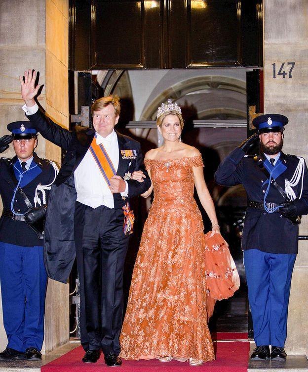 Foto: Máxima con el vestido de Valentino (CP)