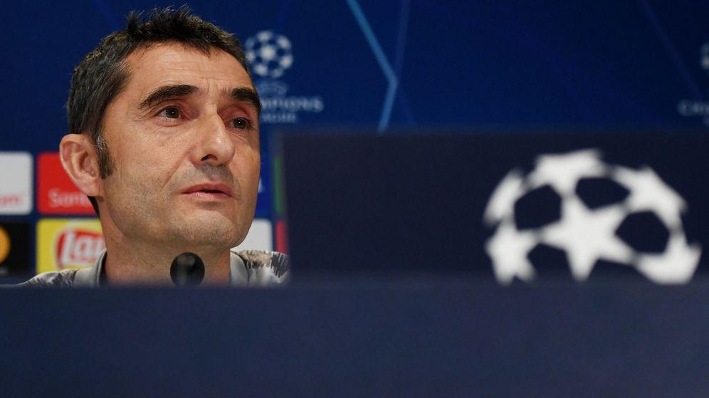 Foto: Ernesto Valverde, en una rueda de prensa. (Reuters)