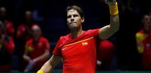 Post de El 'servicio' perfecto de Rafa Nadal y el billete de España a los cuartos de la Davis
