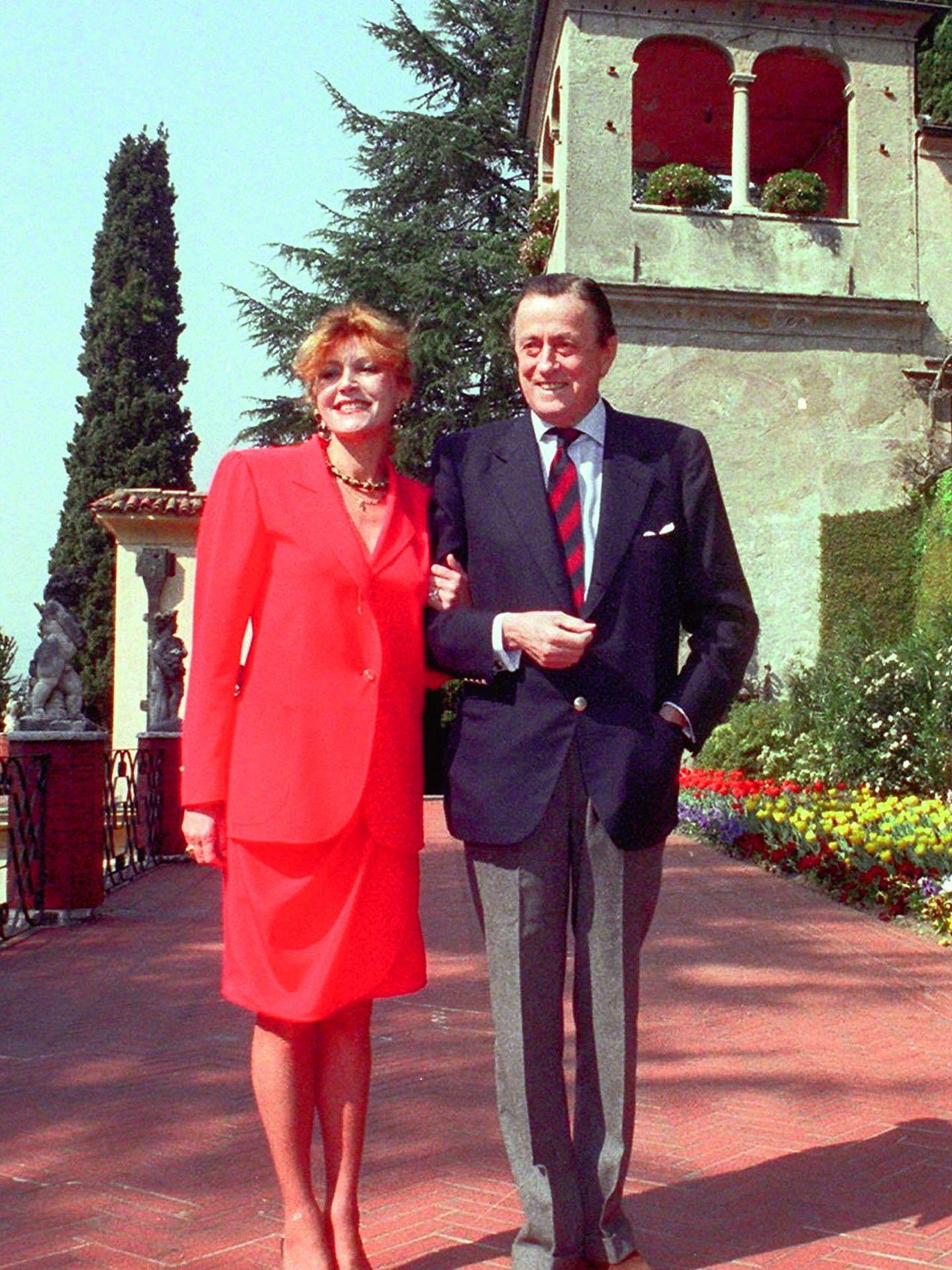 Carmen Thyssen y el barón, en Villa Favorita. (Gtres)