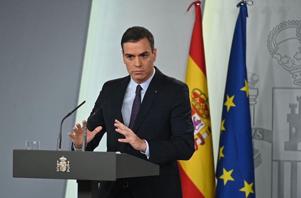 Foto: Pedro Sánchez, en su última comparecencia en la Moncloa, el pasado 11 de diciembre. (EFE)