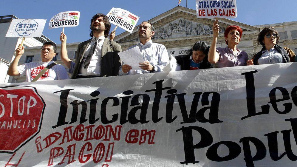 Foto: Miembros de la Plataforma Afectados Hipotecas
