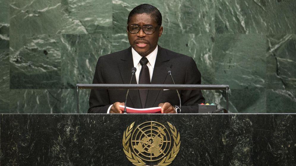 Foto: El vicepresidente guineano Teodoro Nguema Obiang Mangue Teodorín durante la 70ª sesión de la Asamblea General de la ONU, en septiembre de 2015 (Reuters)
