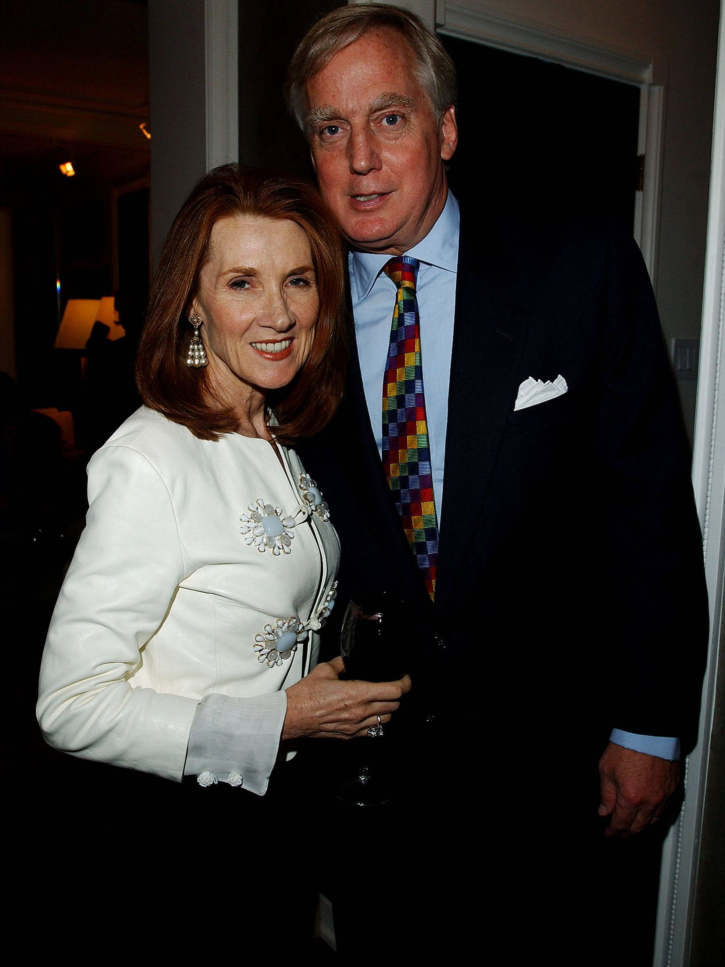 Linda Bruckheimer y Robert Trump en una foto de 2004. (Getty)