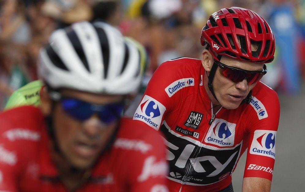 Foto: Froome de rojo, Contador también. (EFE)
