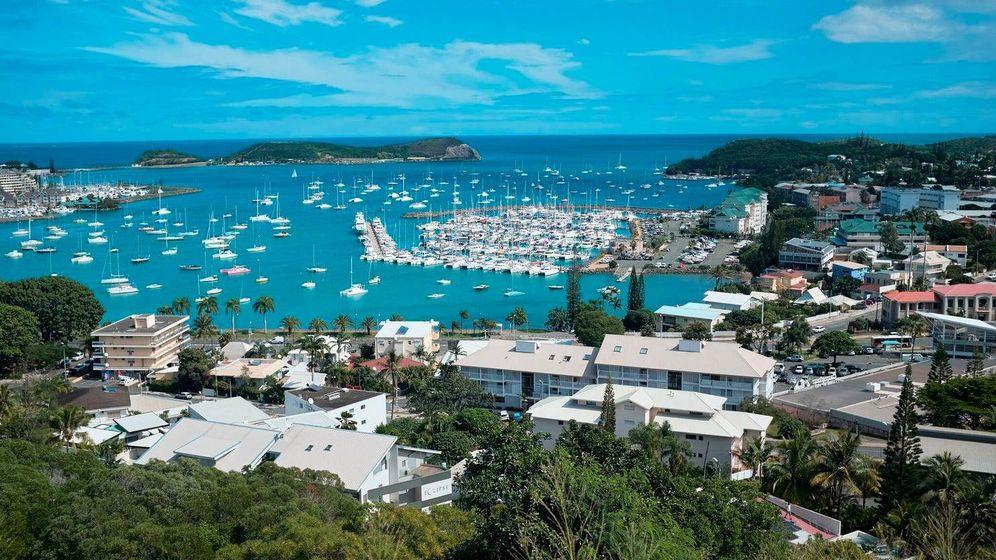 Foto: Vista aérea de Nóumea, capital de Nueva Caledonia.